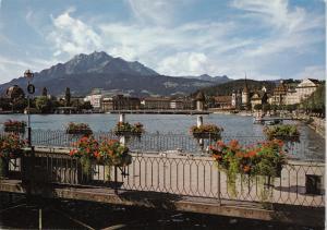 Switzerland, Suisse, Lucerne, Luzern, and Mt. Pilate, unused Postcard