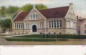 Maine Augusta Lithgow Library 1911