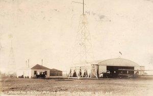 LP62 Cheyenne  Wyoming  RPPC Postcard  Radio Airman Service Station Aviation