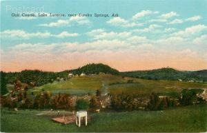 AR, Eureka Springs, Arkansas, Lake Lucerne, Golf Course, Curteich No. 98432-N