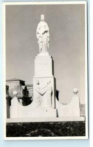 La Paz Bolivia Monument Isabel La Catolica Photo Vintage Postcard D13