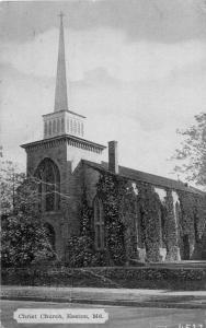 F5/ Easton Maryland Postcard 1938 Christ Church Building