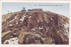 Panorama,Summit of Pikes Peak,Colorado,PU-1953