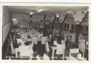 RP: LESTERVILLE , Missouri, 1952 ; Dining Room , Black River Lodge , Juke Box