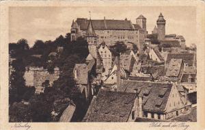 Blick nach der Burg Nuernberg Germany