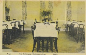 CHATEAUGUAY , Quebec, 1910-30s ; Hotel Dining Room