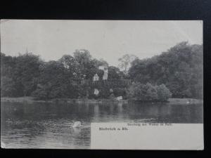 Germany: Biebrich a.Rh - Moosburg mit Weiher im Park c 1907 - Old Postcard