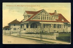 Wildwood, New Jersey/NJ Postcard, Miles Rigor Residence, Wildwood Crest, 1917!