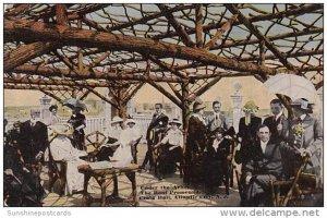 New Jersey Atlantic City Under The Arbor On Roof Promenade Craig Hall  1916