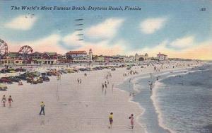 World's Most Famous Beach, Daytona Beach, Florida, PU-1959
