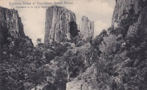 Entrance Valley Graaff Reinet South Africa Old Postcard