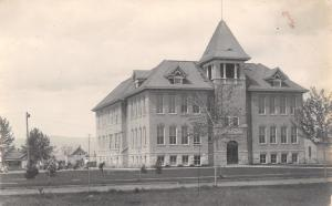 Kalispell MT~West Side School Maam's Room Ready, Marm Miss Jean~RPPC c1910