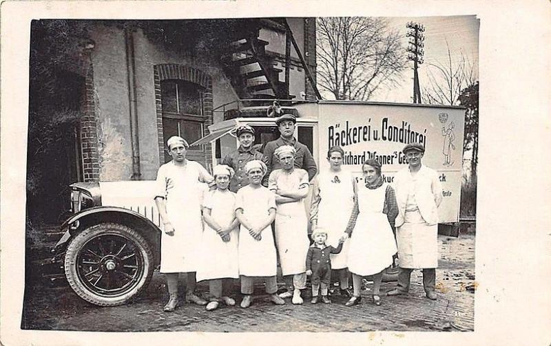 Backerei u. Conditorei Bakery Truck Workers Germany RPPC Postcard