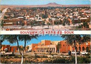 Modern Postcard Souvenir of Ksar es Souk Panoramic view