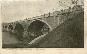 Des Moines, Iowa, IA, Sixth Ave. Melan Arch Bridge, Vintage Postcard b8493