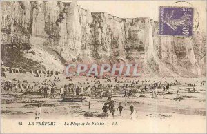 Old Postcard The Treport Beach and the Cliff