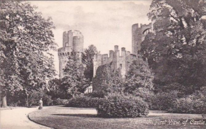 England Warwick First View Of Castle