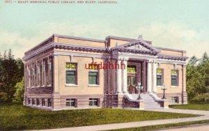 KRAFT MEMORIAL PUBLIC LIBRARY RED BLUFF, CA