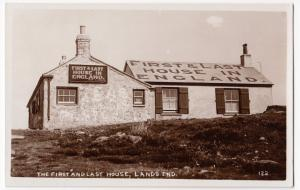 Cornwall; The First & Last House, Lands End RP PPC, Unposted