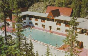 Miette Hot Springs Pool, Jasper National Park, JASPER, Alberta, Canada, 40-60´s