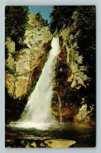 White Mountains NH- New Hampshire, Glen Ellis Falls Pinkham Notch ChromePostcard