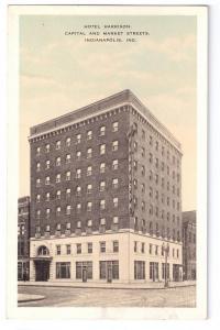 Hotel Harrison Indianapolis IN 1938 Kropp Postcard
