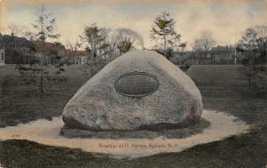 Buffalo NY~Handcolored~13th Regiment Boulder~Fort Porter~Civil War Monument 1909