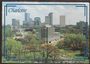 Skyline Charlotte NC Postcard BIN