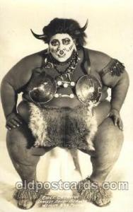 Real Photo - Chief Catawan, Largest Human on Earth Circus Postcard Post Card ...