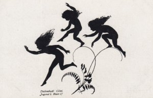 DIEFENBACH : Fantasy Silhouette , 00-10s ; Jugend I. Blatt. 17 ; White paper