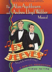 By Jeeves Alan Ayckbourn Play New Vic Theatre Gala Poster Postcard Style Card