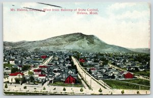Helena Montana~Birdseye Neighborhood Homes~Mount from State Capitol Balcony~1910