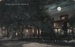 BELLEVILLE , Ontario, Canada, 1908 ; St Agnes School for girls at night