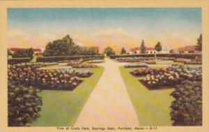 Maine Portland View Of Circle Park Deerings Oaks Dexter Press