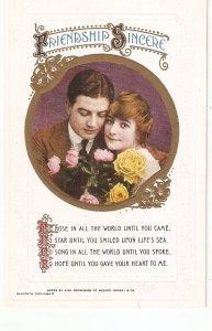 Couple. Romanc.e.  Frienship Sincere  Bamforth Valentine  Seris PC # 18