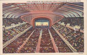 Ohio Cleveland Public Auditorium Interior Curteich