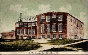 Belvidere Illinois~HW Gossard Corset Co~Factory~c1910 Postcard