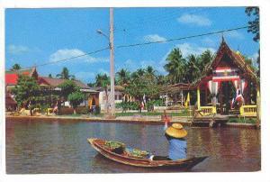 Beautiful view of Klong (Canal) in Bangkok, Thailand,  40-60s