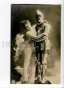 260626 BELLE Woman & KNIGHT Vintage PHOTO NPG #279-2 postcard