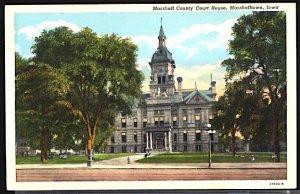 USA Postcard Marshall County Court House Marshalltown Iowa
