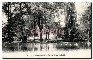 Bordeaux Old Postcard A corner of the park