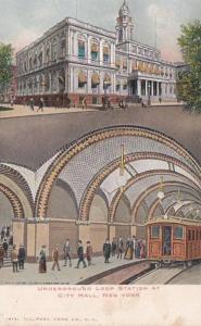 New York City Underground Loop Station At City Hall