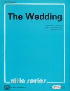 The Wedding Fred Jay Joaquin 1970s Sheet Music