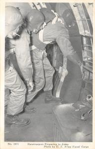 WWII Patriotic~Paratroopers Prepare to Jump~Exit Plane~From the Sky We Lead~1943