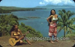 Music & Dance Tahiti Fiji, Fijian Writing on back