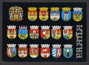 Czechoslovakia Coats of Arms Prague Towns Praha Postcard Bubenec Czech Republic