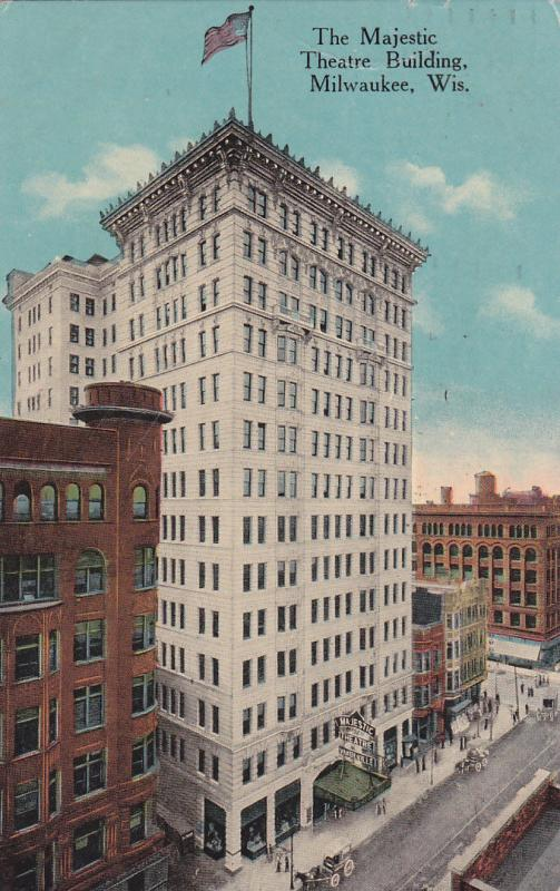 MILWAUKEE , Wisconsin, PU_1914 ; Majestic Theatre Building
