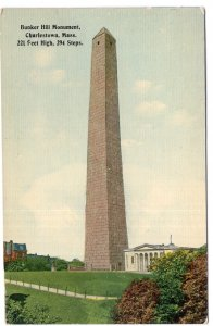 Charlestown, Mass, Bunker Hill Monument - Tichnor Brothers