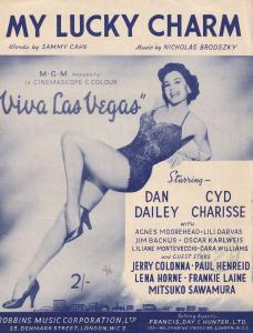 My Lucky Charm Cyd Charisse 1950s Sheet Music