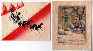 2 - Christmas Cards (1 Rice Paper)